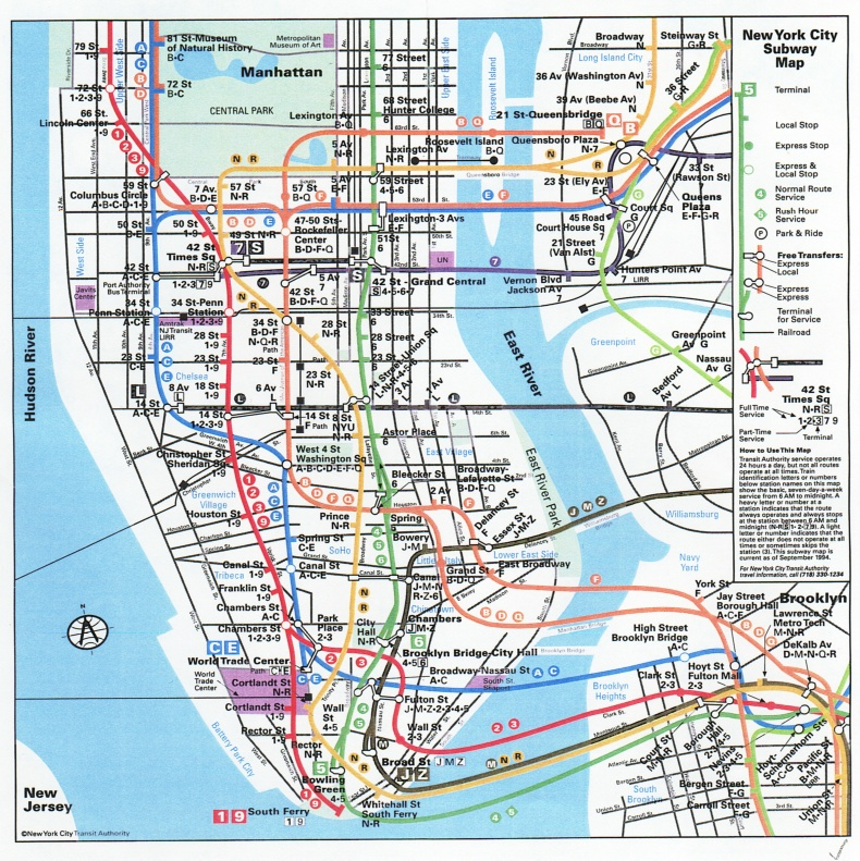 Nyc Subway Map Upper West Side.It Is The City